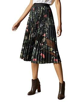 Ted Baker - Abilen Highland Pleated Midi Skirt