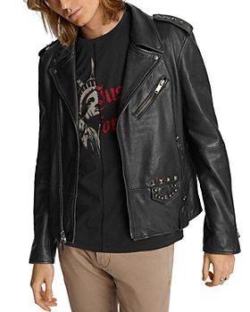 John Varvatos Star USA - Misfits Studded Slim Fit Biker Jacket