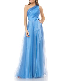 Carmen Marc Valvo Infusion - Two-Toned Evening Gown