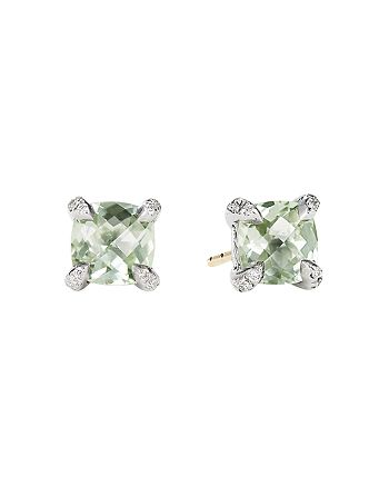 David Yurman - Châtelaine® Stud Earrings with Prasiolite and Diamonds
