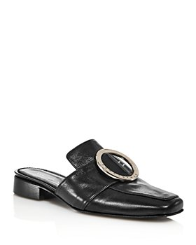 Dorateymur - Women's Petrol Embellished Slip On Loafer Mules