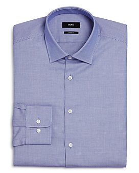 BOSS - Marley Check-Print Sharp Fit Dress Shirt