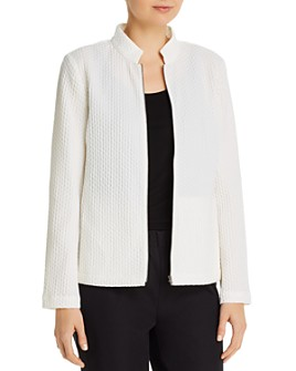 Eileen Fisher - Honeycomb Stand-Collar Zip Jacket