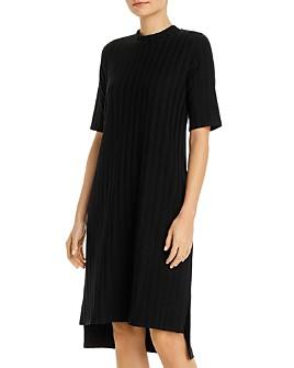 Eileen Fisher - Ribbed Mock-Neck Dress