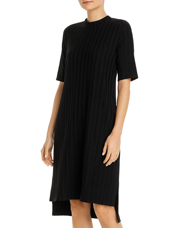 Eileen Fisher Downs RIBBED MOCK-NECK DRESS