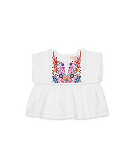 Pink Chicken - Girls' Clary Cotton Embroidered Top - Big Kid