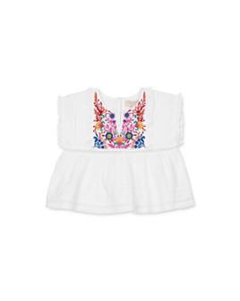 Pink Chicken - Girls' Clary Cotton Embroidered Top - Big Kid