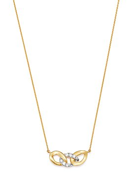 "Moon & Meadow - 14K Yellow Gold Interlocking Link Pendant Necklace, 15-17"" - 100% Exclusive"