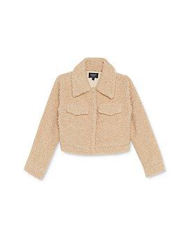 Bardot Junior - Girls' Cropped Sherpa Jacket - Little Kid