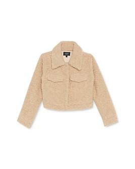 Bardot Junior - Girls' Cropped Sherpa Jacket - Big Kid