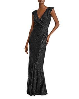 Ralph Lauren - Sequined Cap-Sleeve Gown