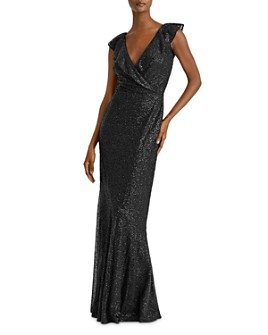 Ralph Lauren - Sequined Cap-Sleeve Gown