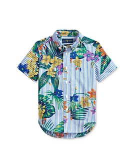 Ralph Lauren - Boys' Cotton Striped Tropical Polo Shirt - Little Kid