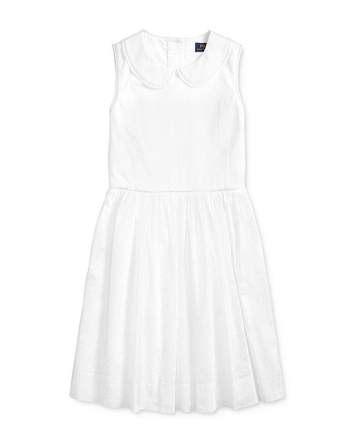 Ralph Lauren POLO RALPH LAUREN GIRLS' COTTON VOILE DRESS - BIG KID