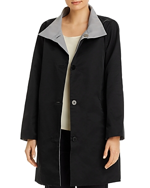 Eileen Fisher Petites Stand Collar Coat - 100% Exclusive