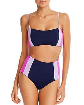 L*Space - Rebel Heart Colorblocked Bikini Top & Portia Colorblocked High-Waist Bikini Bottom