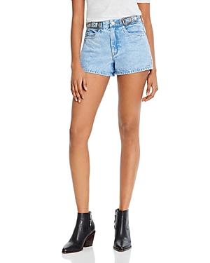 Blanknyc Cotton Buckle Denim Shorts in Wild Wild West-Women