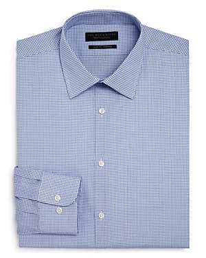 The Men's Store at Bloomingdale's Shadow Grid Stretch Slim Fit Dress Shirt - 100% Exclusive