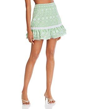 Charo Ruiz Ibiza - Humy Cotton Eyelet Mini Skirt