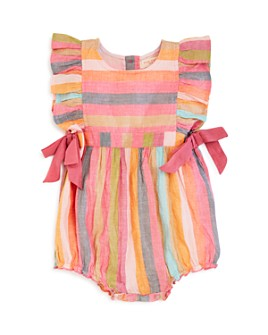 Pink Chicken - Girls' Amy Yarn-Dyed Stripe Romper - Baby