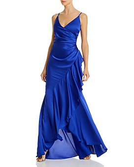 AQUA - Ruffled Wrap Gown - 100% Exclusive