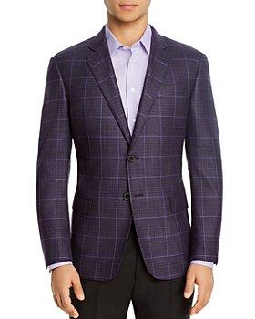 Armani - Windowpane Regular Fit Blazer