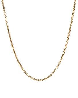 "David Yurman - 18K Yellow Gold Box Chain Necklace, 26"""