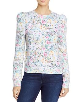 Generation Love - Hayden Printed Puff-Sleeve Sweatshirt