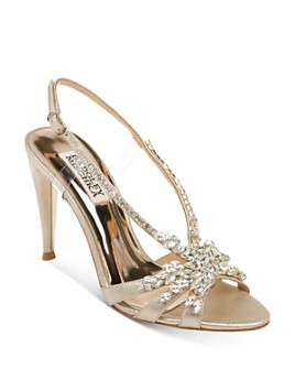 Badgley Mischka - Women's Jacqueline II Embellished Strappy High-Heel Sandals