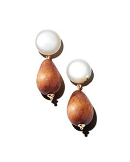 AQUA - Cara Cultured Freshwater Pearl & Wood Bead Drop Earrings - 100% Exclusive