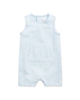 Ralph Lauren - Boys' Cotton-Blend Solid Sleeveless Shortalls - Baby
