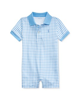 Ralph Lauren - Boys' Cotton Gingham Check Polo Shortalls - Baby