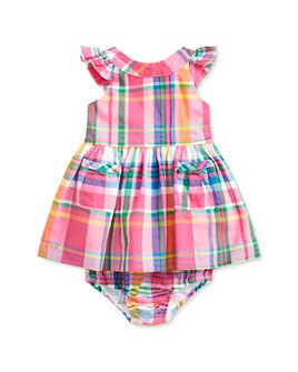 Ralph Lauren - Girls' Cotton Madras Plaid Fit-and-Flare Dress & Bloomers Set - Baby
