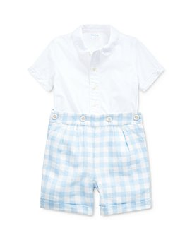 Ralph Lauren - Boys' Broadcloth Button-Down Shirt & Gingham Shorts Set - Baby