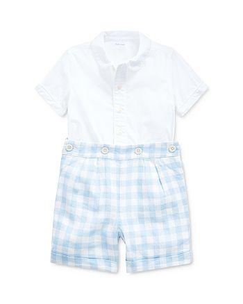 Ralph Lauren - Boys' Broadcloth Button-Down Shirt & Gingham Shorts Set - Baby