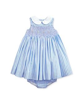 Ralph Lauren - Girls' Cotton Poplin Smocked Stripe Dress & Bloomers Set - Baby
