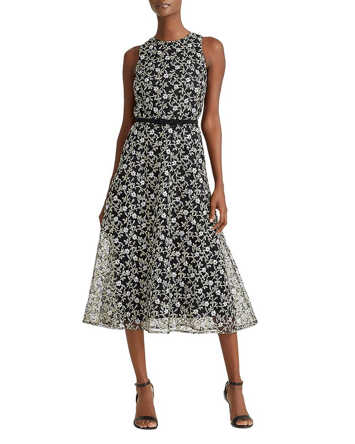 Ralph Lauren - Floral Embroidered Fit-And-Flare Dress