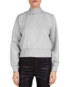 The Kooples - Pierced Fleece Sweatshirt