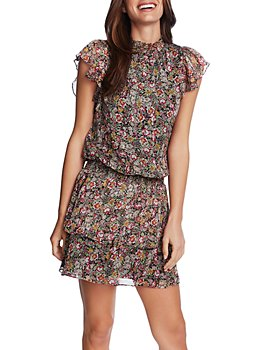 1.STATE - Forest Gardens A-Line Dress