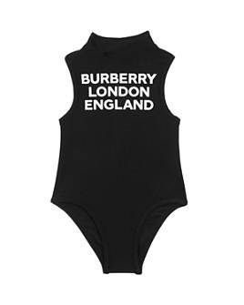 Burberry - Girls' Iris Logo Print One-Piece Swimsuit - Little Kid, Big Kid