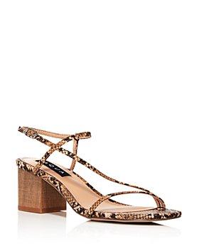 AQUA - Women's Amy Strappy Slingback Mid-Heel Sandals - 100% Exclusive