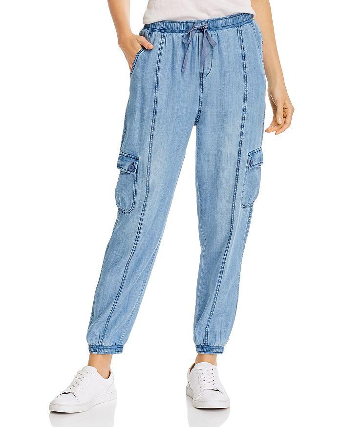 AQUA - Sylvia Pull-On Chambray Pants - 100% Exclusive