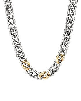 """David Yurman - Curb Chain Necklace with 14K Yellow Gold, 19"""""""