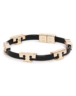 Tory Burch - Sherif-T Leather Stackable Bracelet