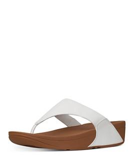 FitFlop - Women's Lulu Slip On Thong Wedge Sandals
