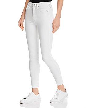 rag & bone - Nina High-Rise Skinny Ankle Jeans in White