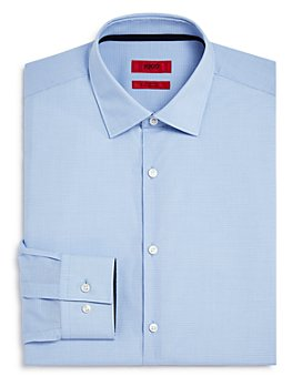 HUGO - Koey Grid Contrast Slim Fit Dress Shirt