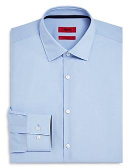 HUGO - Koey Grid Contrast Slim Fit Dress Shirt