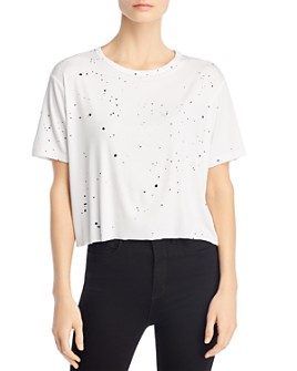 Theo & Spence - Cropped Paint Splatter Tee