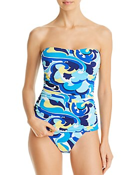 Tommy Bahama - Printed Tankini Top & Reversible Printed Bikini Bottom